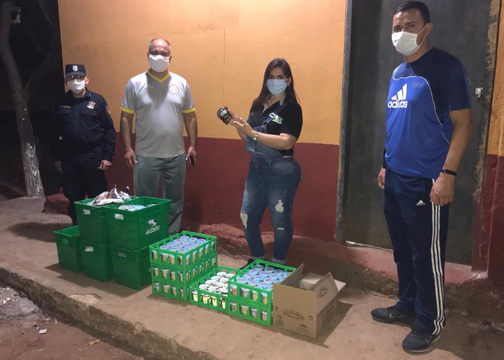 Donacion de productos lacteos